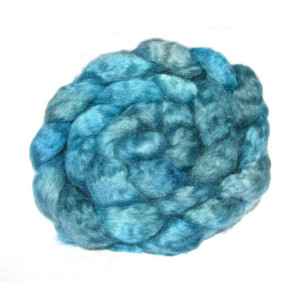 Aqua Wensleydale fibre naturally hand dyed