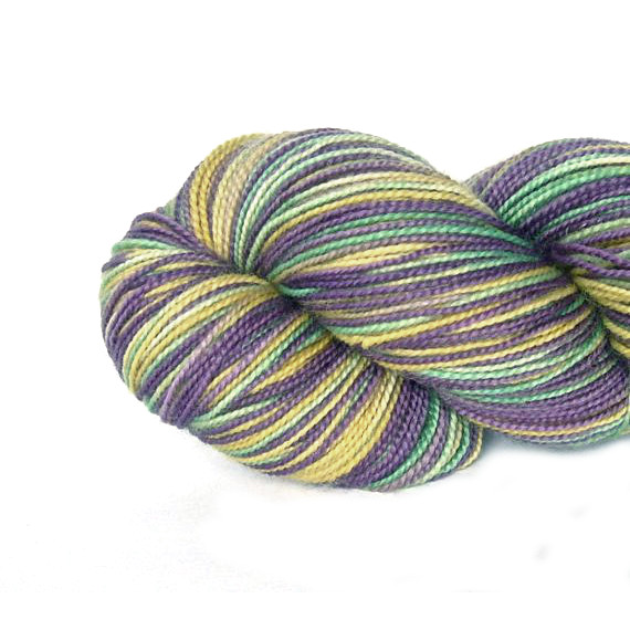 Hand dyed British Bluefaced Leicester 4ply sock yarn