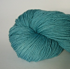 Hand dyed 100% British Bluefaced Leicester 4ply wool 'Aqua'