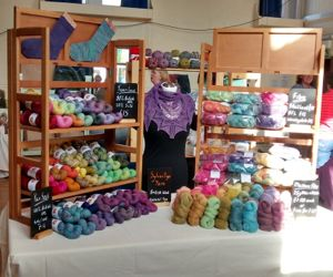 Wharfe Wool Fair set up