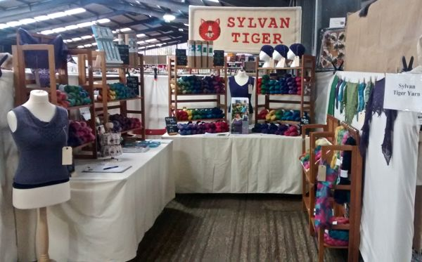 Sylvan Tiger Yarn stall at Yarndale 2015