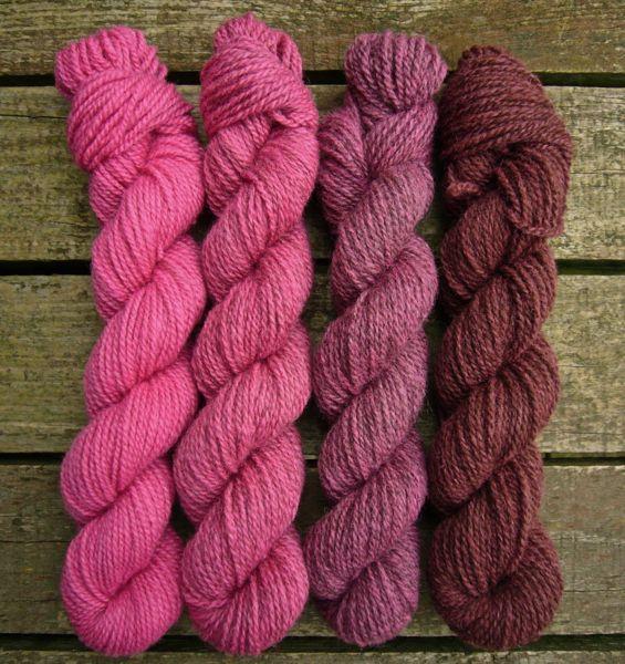 Lethera Shetland Gradient - Raspberry Ganache